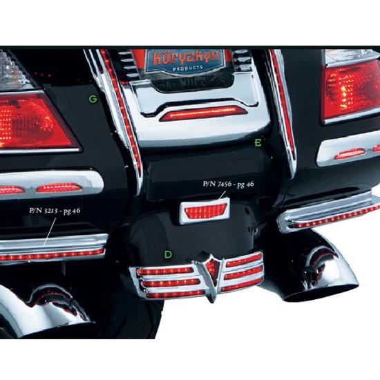 Kuryakyn 3225 LED Run//Brake Rear Fender Tip Accent